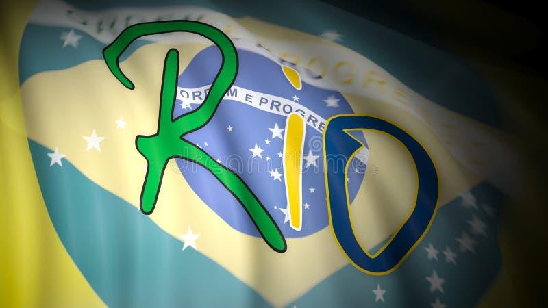 Олимпийские Игры в Рио, Бразилии иллюстрация вектора