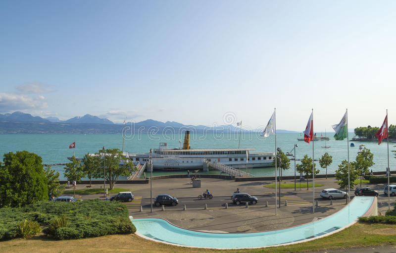 Олимпийский парк в Лозанне, Швейцарии стоковые изображения rf