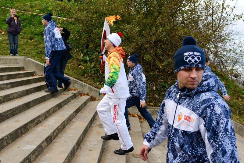 Олимпийский податель факела стоковая фотография rf