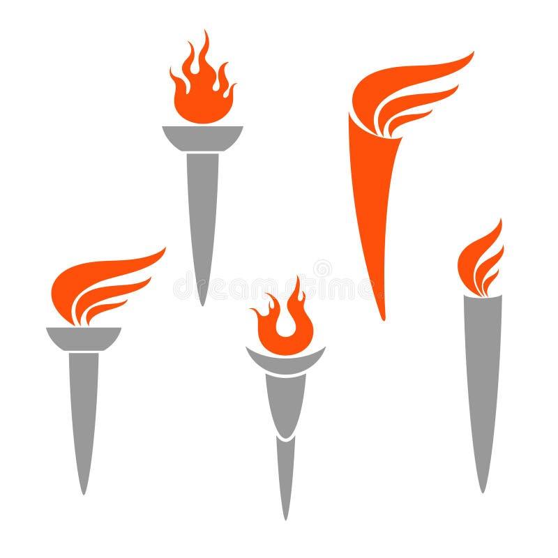 Олимпийский факел иллюстрация вектора