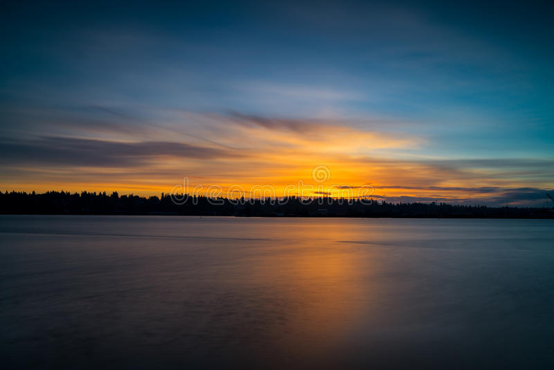 Олимпия восхода солнца зимы стоковое изображение rf