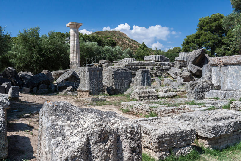 Олимпия Греция виска Зевса стоковое фото