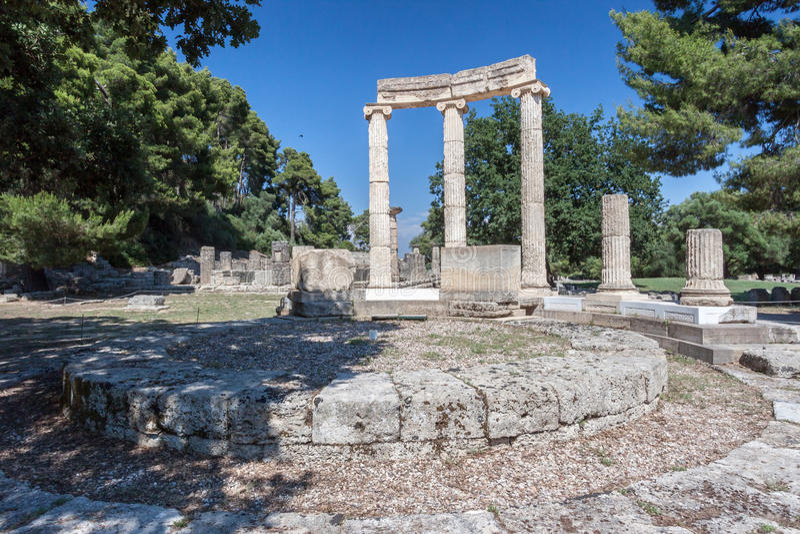Олимпия Греция Tholos стоковые изображения