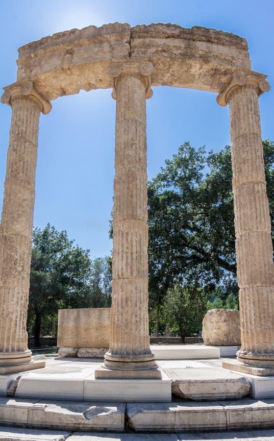 Олимпия Греция Tholos стоковые фото