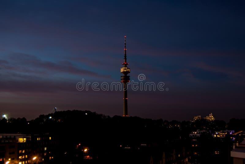 Олимпия Turm Мюнхен стоковое изображение
