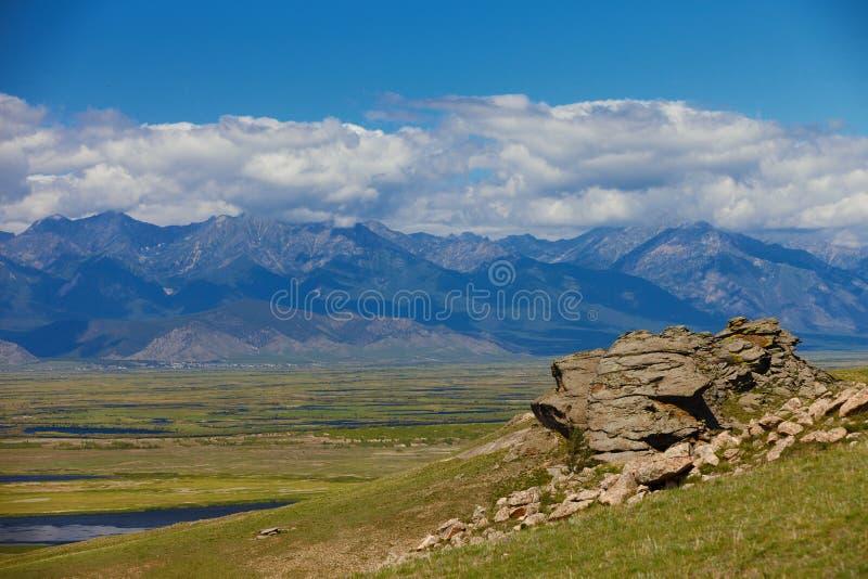 долина лета России ландшафта barguzin Ландшафт ЛЕТА стоковое фото rf