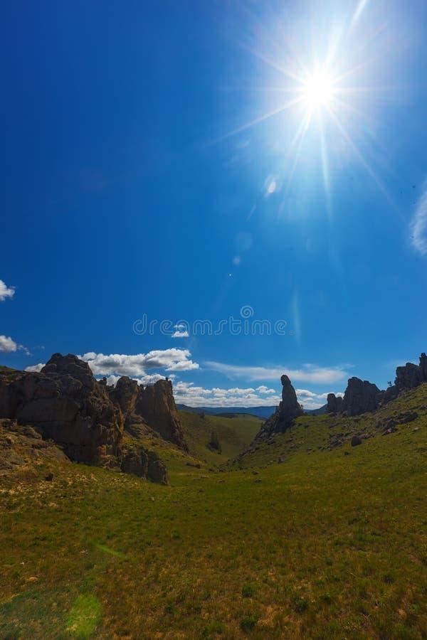 долина лета России ландшафта barguzin Ландшафт ЛЕТА стоковое изображение rf