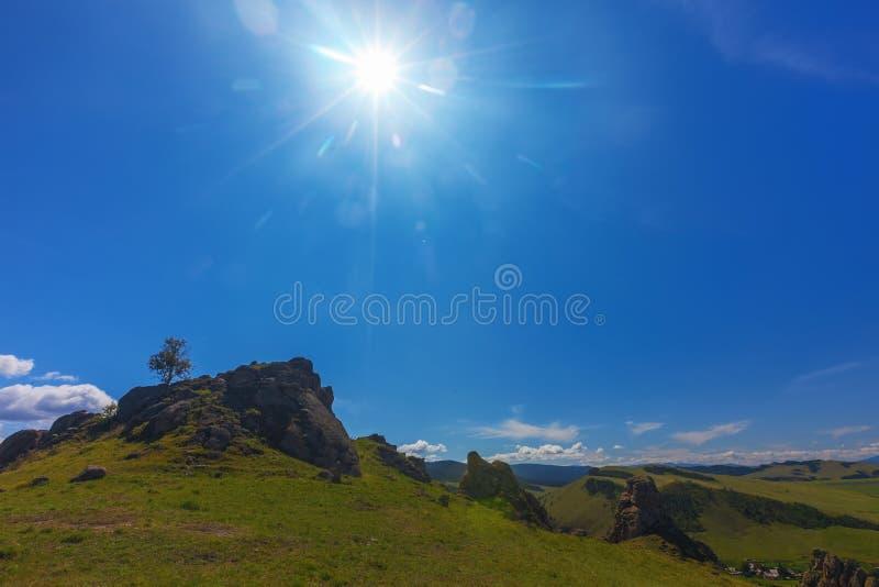 долина лета России ландшафта barguzin Ландшафт ЛЕТА стоковые фото