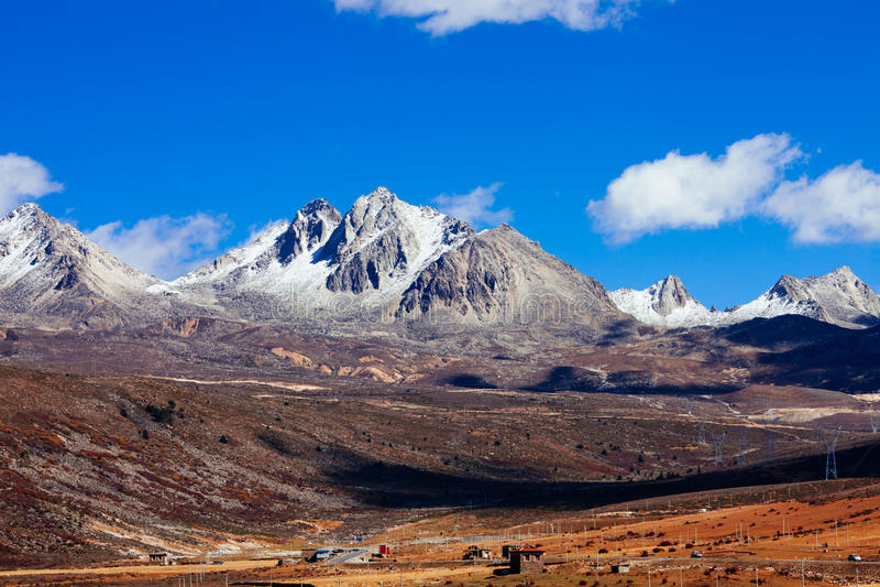 долина плато chuanxi стоковые изображения rf