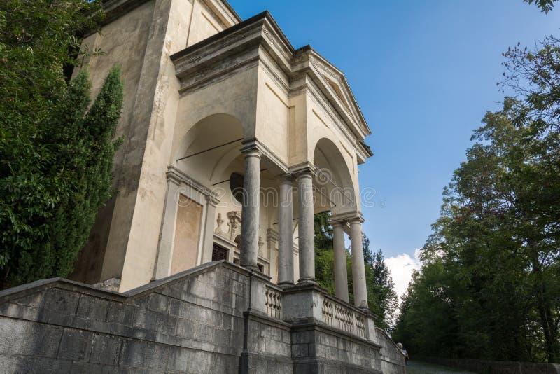 Одиннадцатая часовня на di Варезе Sacro Monte Италия стоковое фото rf