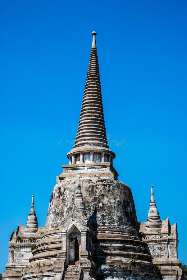 Одиночная пагода на Wat Phra Si Sanphet, Ayuthaya, Таиланде стоковые изображения