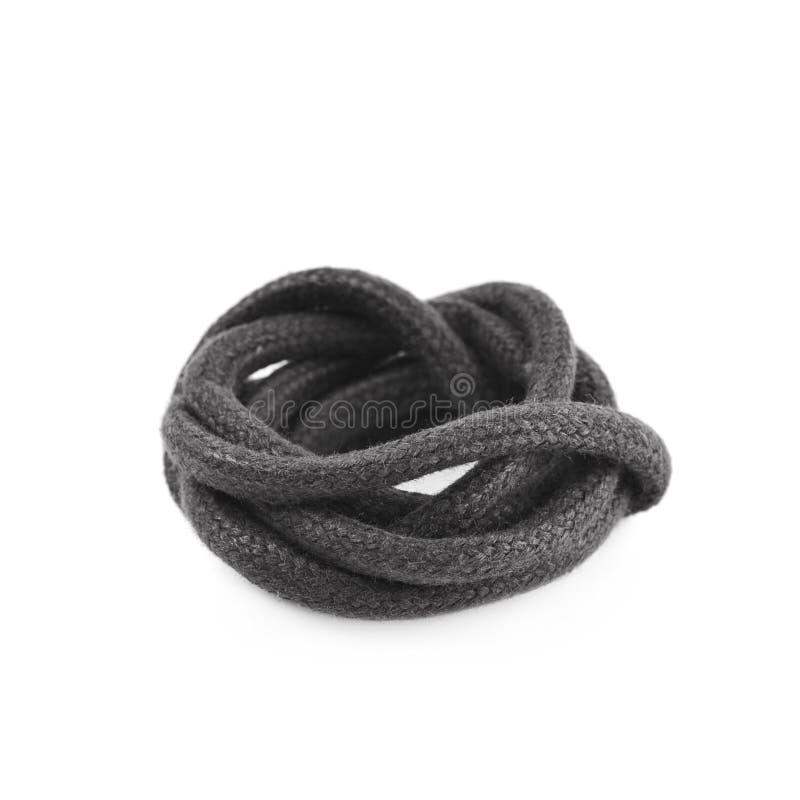 Одиночная сложенная строка шнурка ботинка стоковые фотографии rf