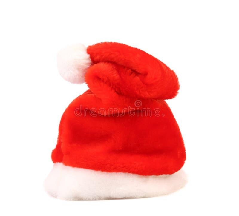 Одиночная шляпа красного цвета Санта Клауса стоковые изображения