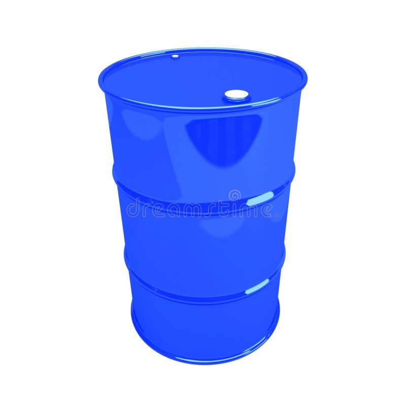 Одиночный голубой бочонок стоковые изображения rf