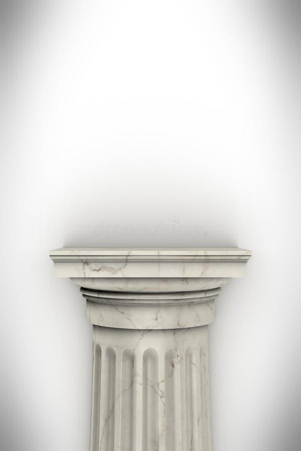 Одиночный греческий столбец изолированный на белизне иллюстрация вектора