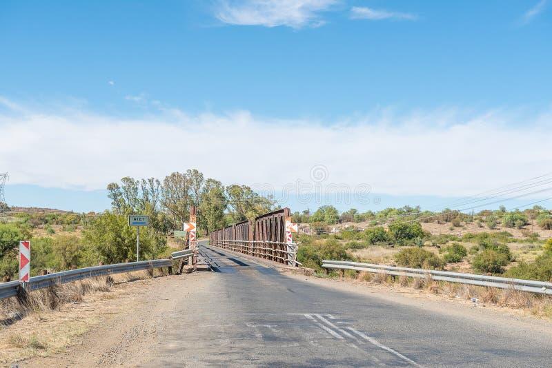 Одиночный мост майны над Rietrivier стоковое изображение rf