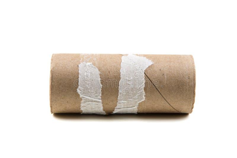 Одиночный пустой крен туалетной бумаги стоковые фотографии rf