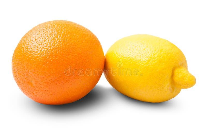 Один апельсин и лимон стоковое фото
