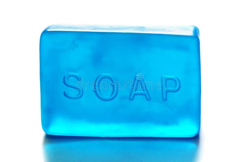 Один голубой кусок мыла стоковая фотография rf