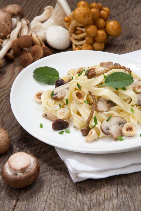 Download Одичалые макаронные изделия грибов Стоковое Изображение - изображение насчитывающей ресторан, вс: 40588671
