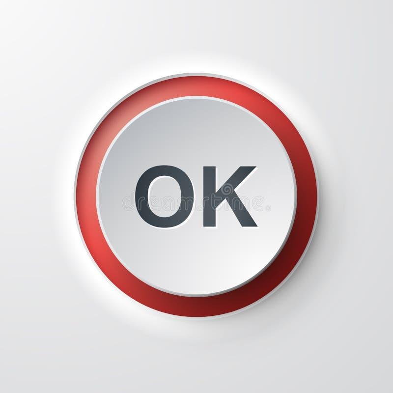 О'кей кнопки значка сети иллюстрация вектора
