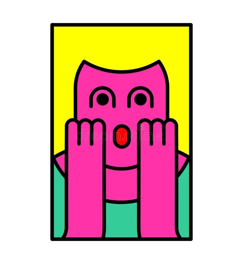 О мой бог стиль искусства шипучки женщины Девушка OMG в страхе возглас бесплатная иллюстрация