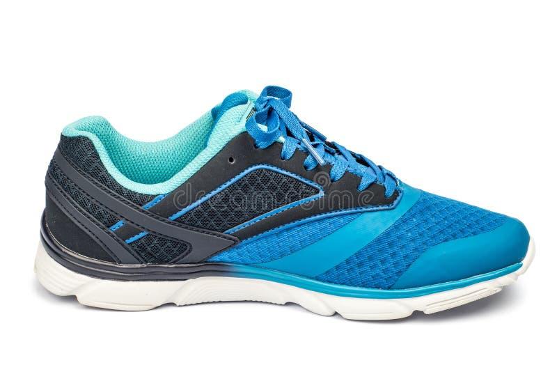 Одна голубая теннисная обувь стоковое изображение rf