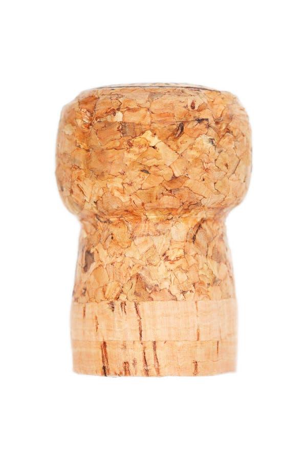 Одна деревянная пробочка изолированная на белизне стоковые фото
