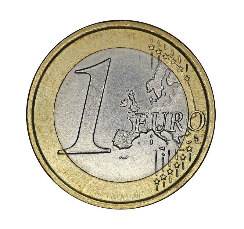 Одна монетка евро стоковая фотография