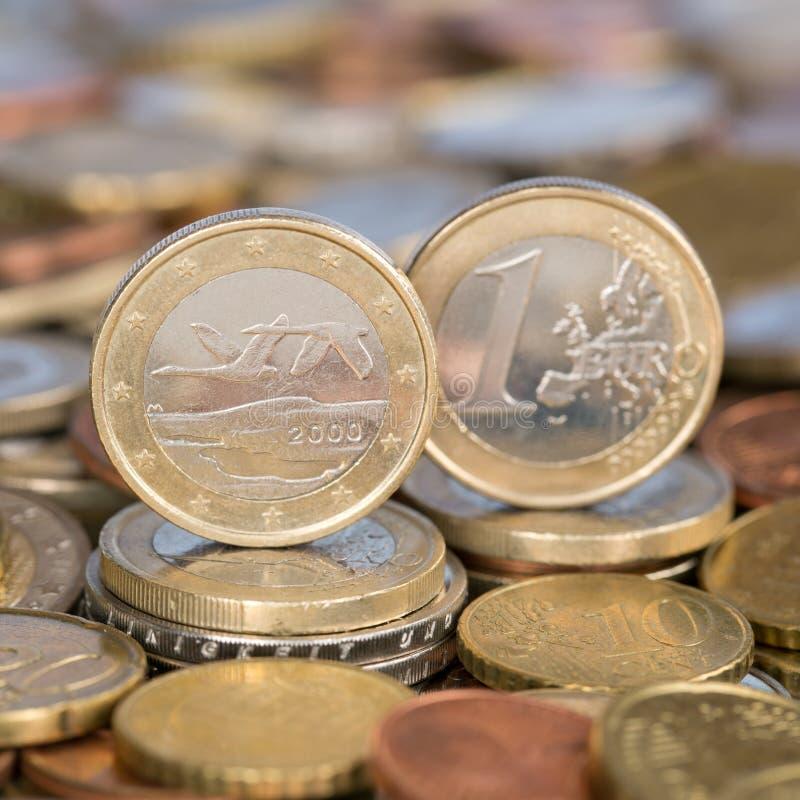 Одна монетка Финляндия евро стоковое изображение