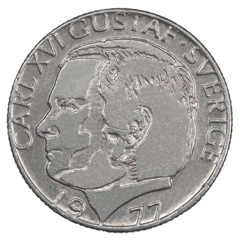 Одна монетка шведского Kronor стоковое изображение