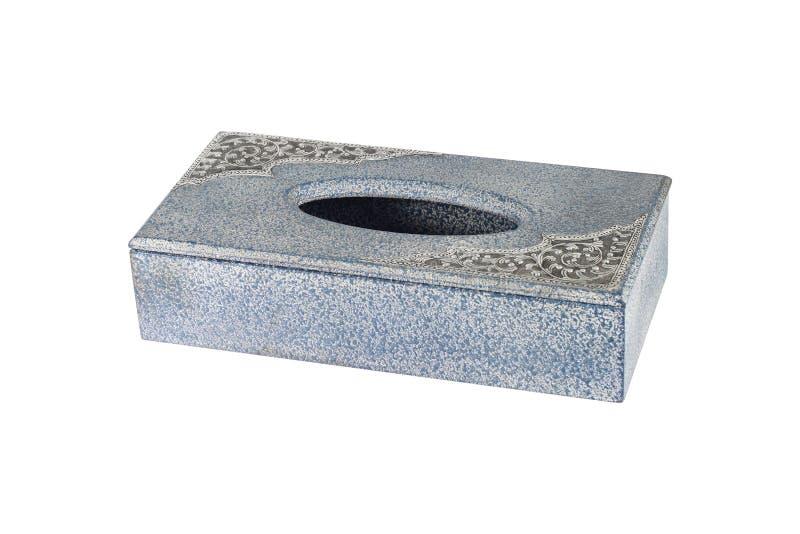 одна пустая деревянная коробка ткани изолированная на белизне стоковые фото