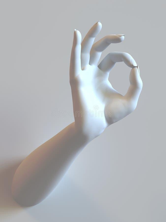 Одобренная рука стоковые изображения rf