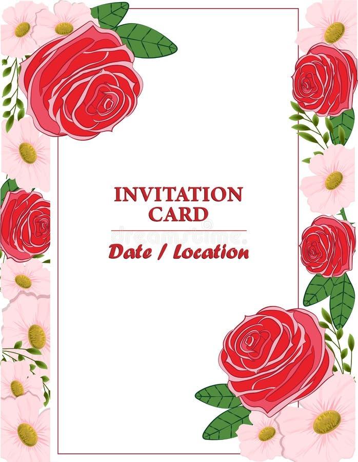 О с н о н ы Wzorzec z kwiatami na ślub, małżeństwo, urodziny, Walentynki B ilustracji