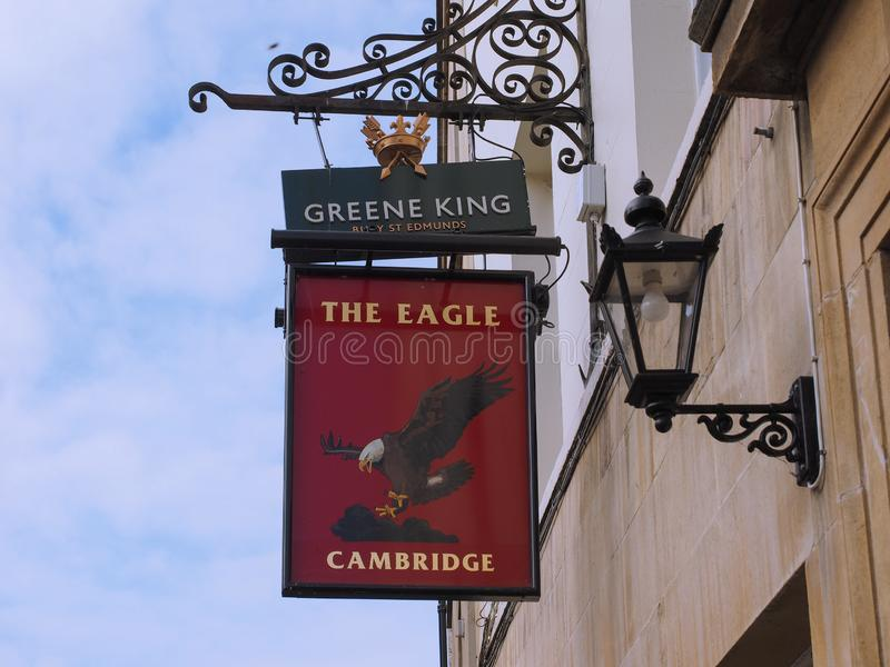 Паб орла в Кембридже стоковое фото