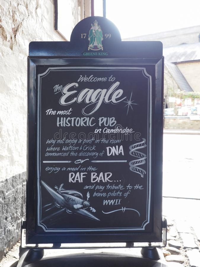Паб орла в Кембридже стоковое изображение rf
