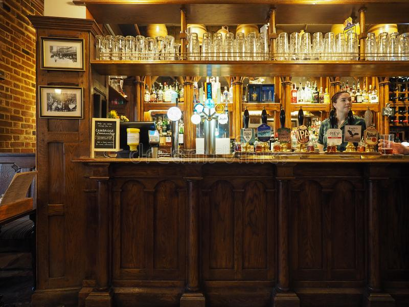 Паб орла в Кембридже стоковые фото