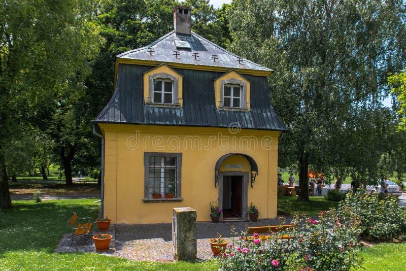Павильон Бетховен в Dolna Krupa, Словакии стоковая фотография rf