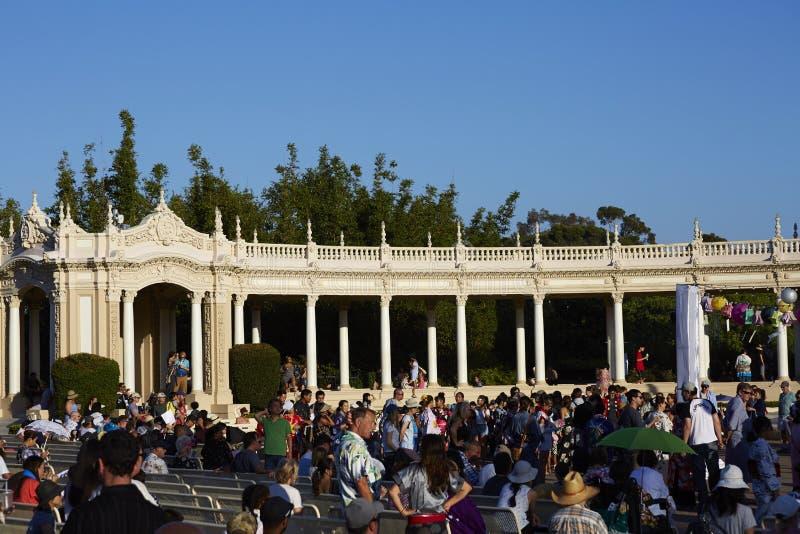 Павильон органа Spreckels, парк бальбоа, Сан-Диего стоковое фото