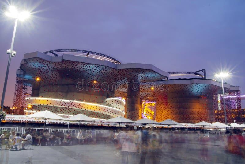 Павильон Швейцарии, экспо Шанхай 2010 стоковая фотография rf