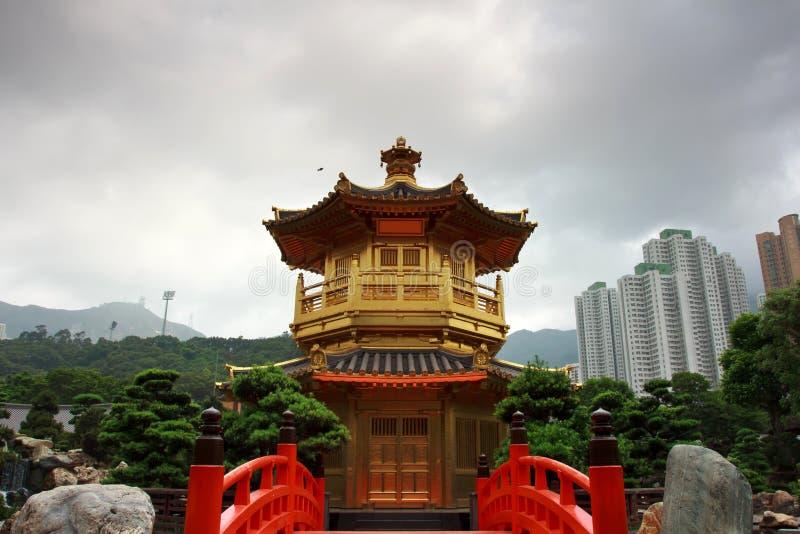 павильон Hong Kong золота стоковое изображение rf