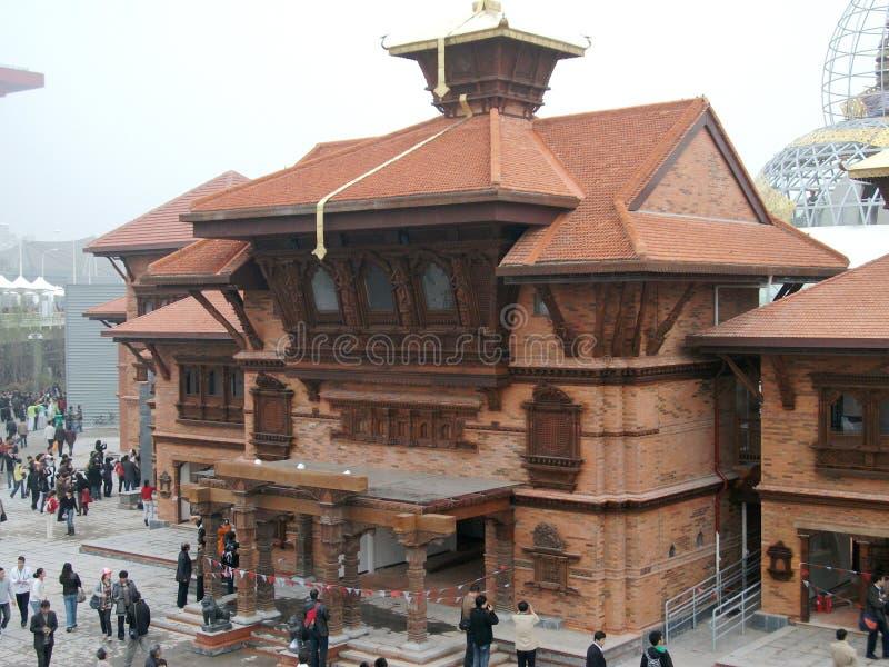 павильон shanghai фарфора expo2010 Непала стоковые фото