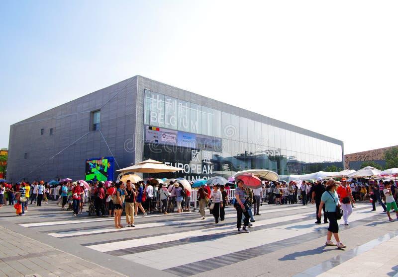 павильон shanghai eu expo2010 фарфора Бельгии стоковые изображения
