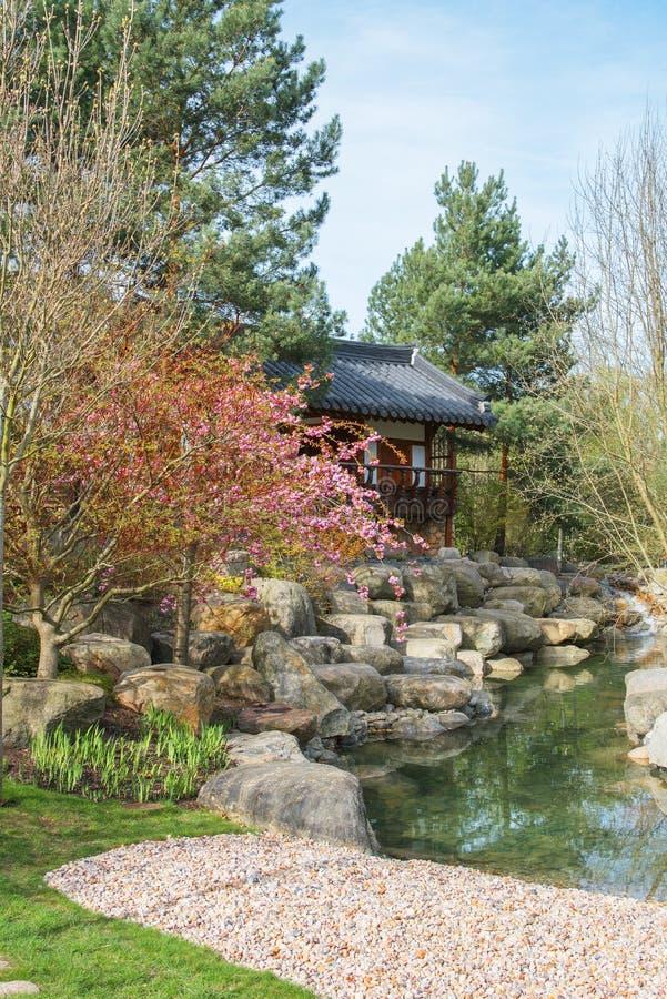Павильон в саде Сеула корейца Сады мира стоковые фото