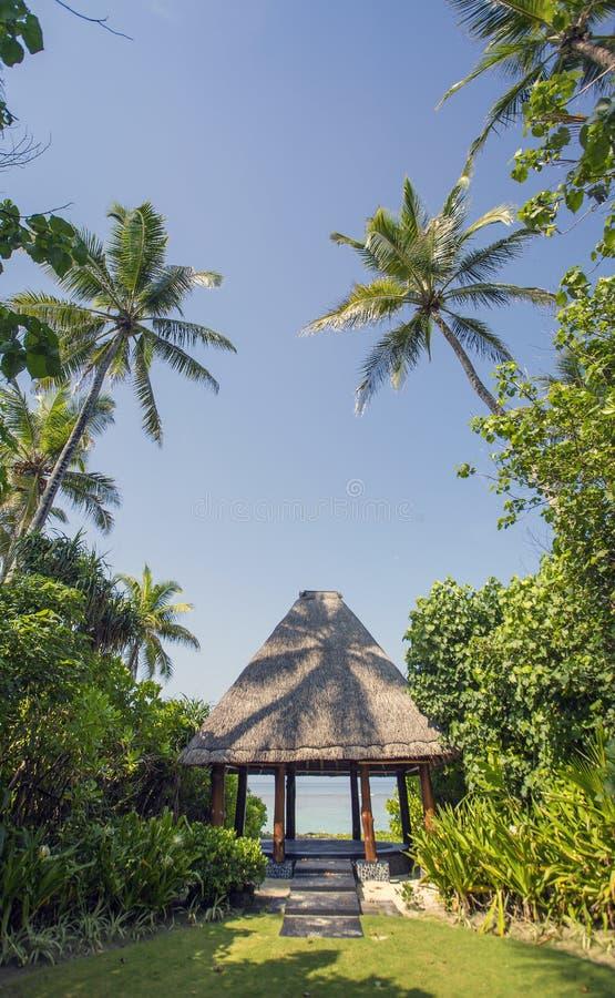 Павильон свадьбы на Мальдивах стоковая фотография