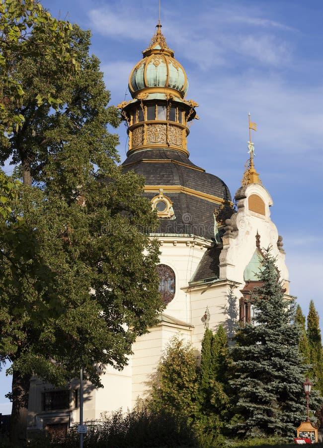 Павильон Ganavsky Прага взгляд городка республики cesky чехословакского krumlov средневековый старый стоковая фотография rf