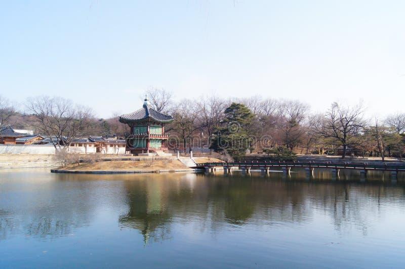 Павильон Hyangwonjeong стоковые изображения