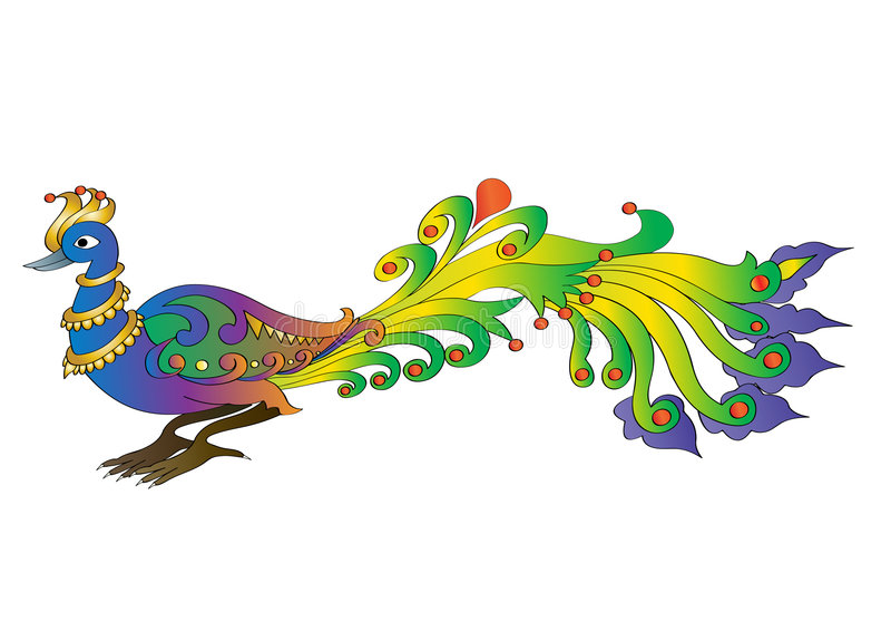 павлин иллюстрация вектора