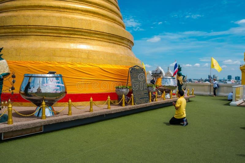 Пагода золотых горы или Wat Saket стоковое фото rf