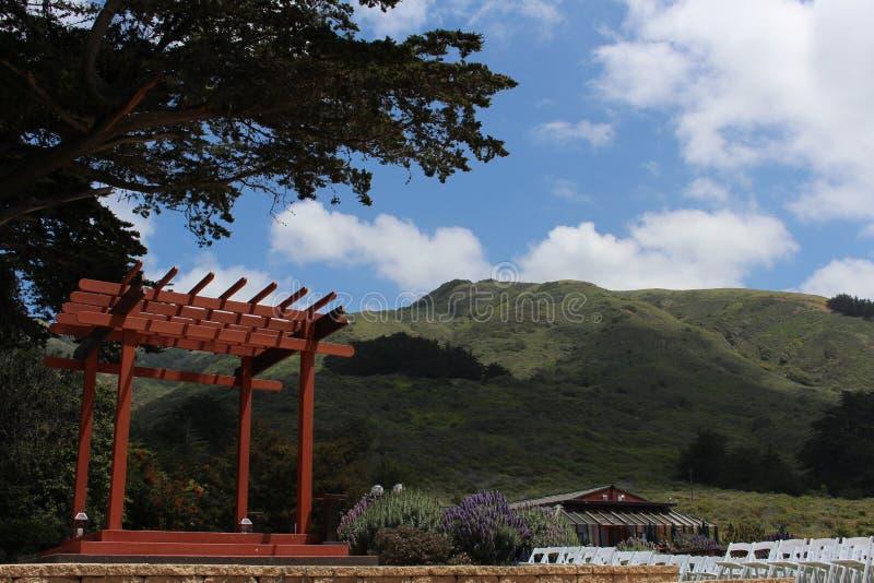 Пагода свадьбы на клочковатый этап стоковая фотография rf